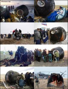 Sojuz po přistání